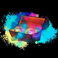 Schatz Schatztruhe farbenfroh