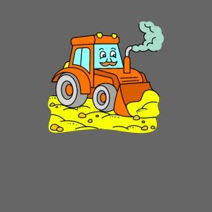 Bagger schaufelt Sand - Bagger-Motiv für Kinder