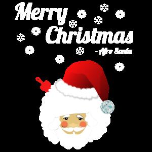 Weihnachtsmann Afro Santa Frohe Weihnachten Shirt