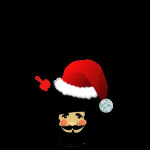 Weihnachtsmann Afro Santa Funky Weihnachten Shirt