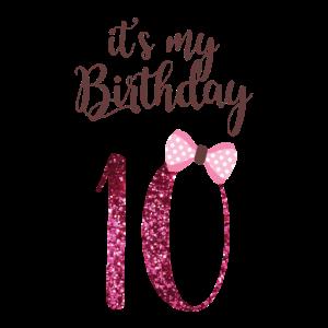 10. Geburtstag Mädchen - Geschenk 10. Jahre