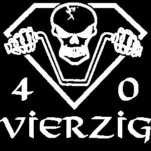Geburtstag 40 Jahre Rocker Totenkopf Geschenk