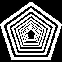 Fünfeck Pentagon Figur geometrisch Vieleck Polygon