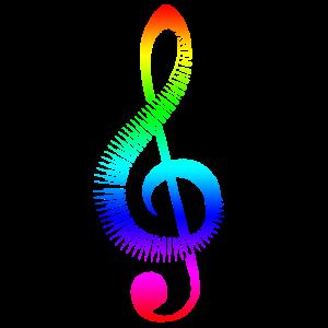 Notenschlüssel Regenbogen