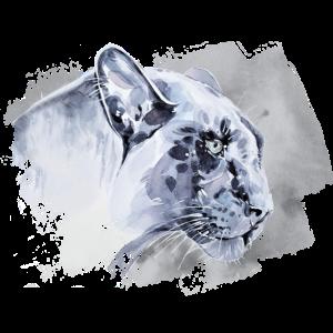 Raubkatze in Schwarz Weiß