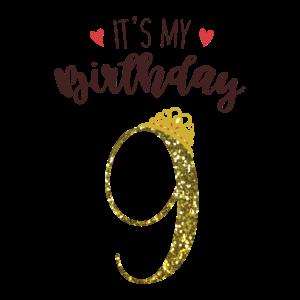 9. Geburtstag Mädchen Geschenk Prinzessin