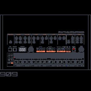 Analog Vintage Drum Machine - Retro 909 Nerd