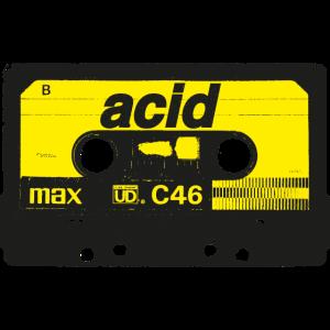 Vintage Acid Rave Cassette - Techno Synth Nerd