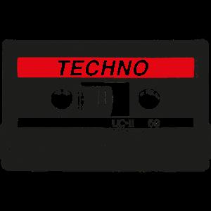 Techno Retro Cassette - Acid Rave Synth Nerd 90s