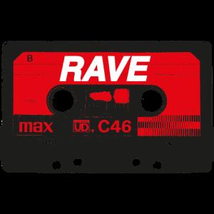 Rave Vintage Cassette - Techno Acid Synth Nerd 80s