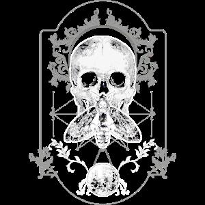 Motte Totenkopf Schädel Insekt Gothic Ornamente