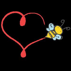 Herz Hummel Biene Flugbahn Honiglieferant Geschenk