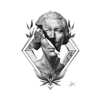 Statue Dotwork Illustration