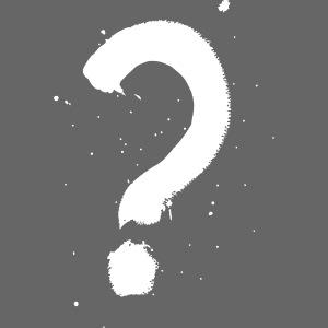 Kysymysmerkki valkoinen