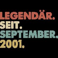 Legendaer seit September 2001 Geburtstag Geschenk