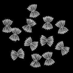 Farfalle monochrome