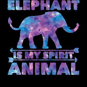 Elefant Aquarell - Elephant Is My Spirit Animal
