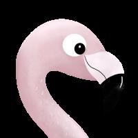 Flamingo Kopf Pink Lustig Rosa Geschenk Vogel