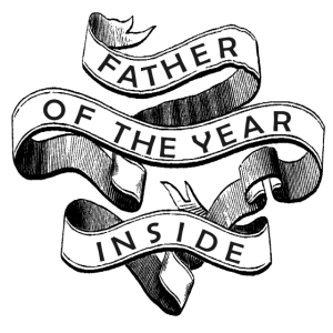 Father Of The Year Inside T-Shirt Design