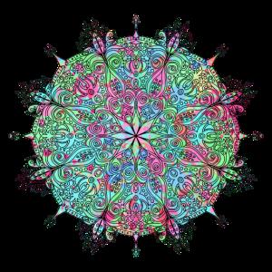 Mandala Farbenfroh Festival T-shirt