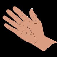 Winkende Hand in Farbe, Geschenkidee zum Abschied