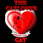 Der Katzenliebhaber hinter der Katze
