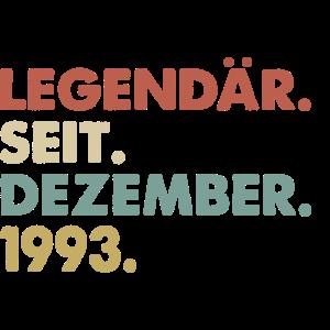 Legendaer seit Dezember 1993 Geburtstag Geschenk