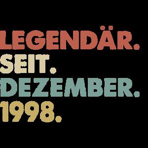 Legendaer seit Dezember 1998 Geburtstag Geschenk
