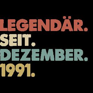 Legendaer seit Dezember 1991 Geburtstag Geschenk