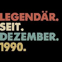 Legendaer seit Dezember 1990 Geburtstag Geschenk