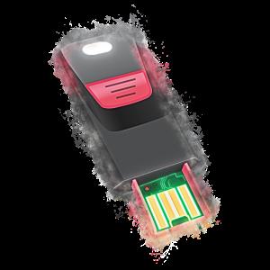 USB Flash-Speicher hell glühend