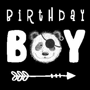 Birthday Boy I Jungen Geburtstag I Panda Pirat