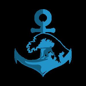 Wasser Surfer Anker See Meer Wellen