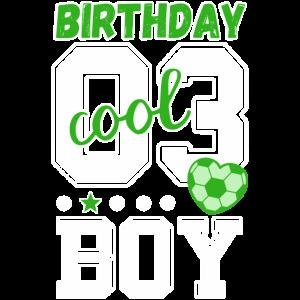 3. Geburtstag Nummer 3 Sport Jungs birthday boy