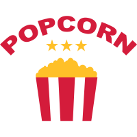 Popcorn Schriftzug Sterne Filme Abend Kino Abend
