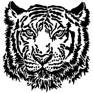 Tigerkopf prächtiger Tiger Skizze Illustration