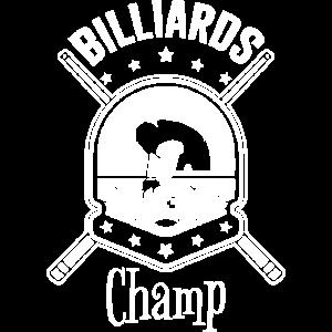 billiards champ frauen maenner t-shirt