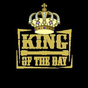 König des Tages Geburtstag Krone Geschenk