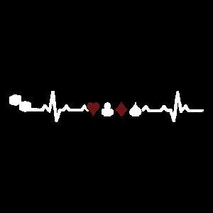 Heartbeats Gamblin Cards Poker Heart Rate