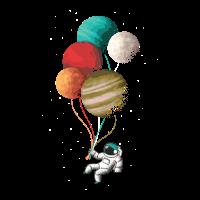 Astronaut mit Luftballons! Weltall, Fantasie