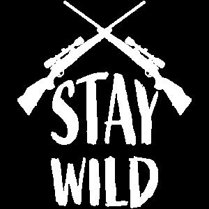 stay wild frauen maenner t-shirt