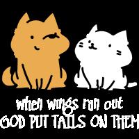 God put tails on them (dark)