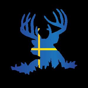 I Love Sweden Ich liebe Schweden Elch Hirsch