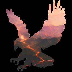 Lavafluss-Falke