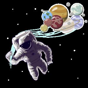 Sonnensystem Planeten Astronaut Weltraum Mars