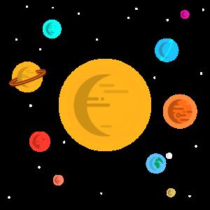 Sonnensystem Planeten Sonne Weltraum All