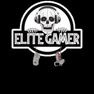 ELITE Gamer Skelett Schädel Gaming Zombie Geschenk