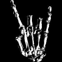 Rock Hand Schädel Grafik