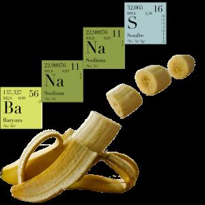 Bananas aus dem Periodensystem der Elemente