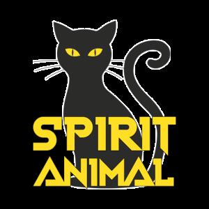 Shirt für Katzenliebhaber, Spirit Animal